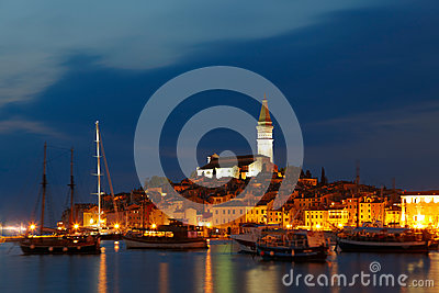 European town at adriatic sea