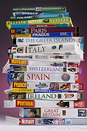 European Travel - Guide Books Editorial Photography