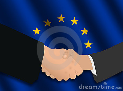 European Union business handshake