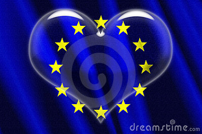 European Union Crystal Heart