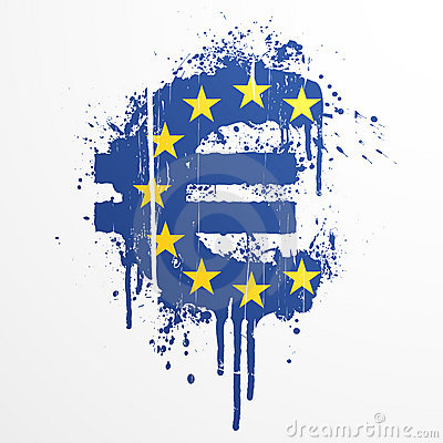 European Union Euro splatter element