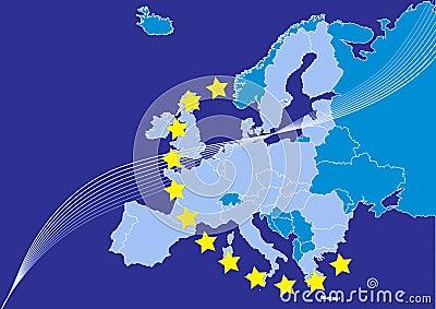 European union,europa map