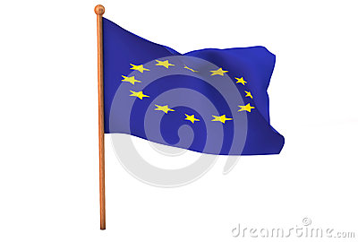 European Union flag in 3d