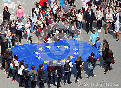 European Union flag Editorial Photo