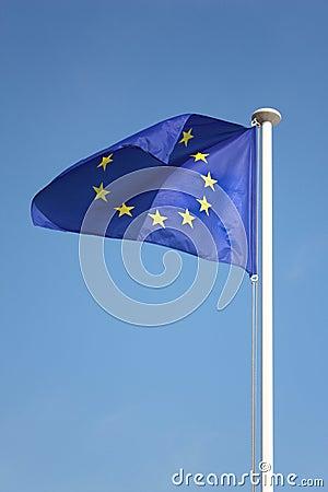 Free European Union Flag On Wind Royalty Free Stock Photos - 10502918
