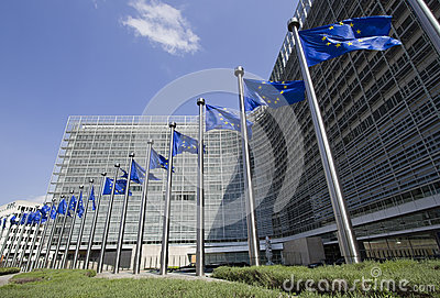 European Union Flags in Brussels