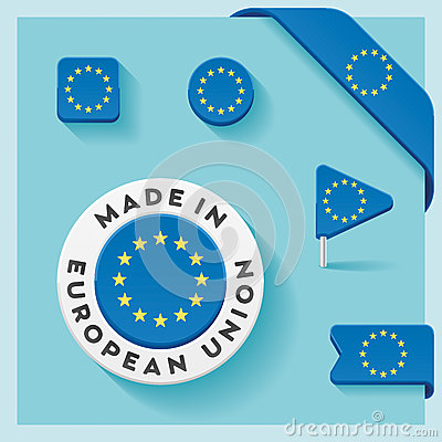 Free European Union Made Symbol Collection Stock Image - 48079281