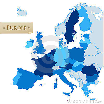 European Union map, isolated on white