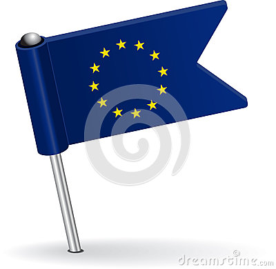 Free European Union Pin Icon Flag. Vector Illustration Stock Photos - 48560333