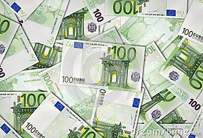 Europejskiego zjednoczenia banknoty 100 Euro