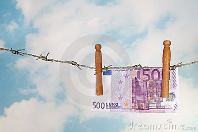 Euros on barbed wire