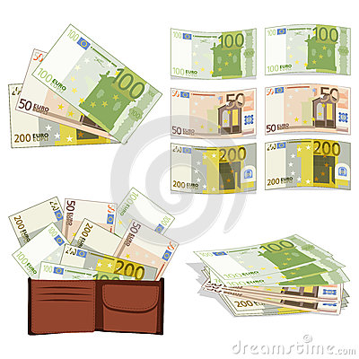 Euros in different forms