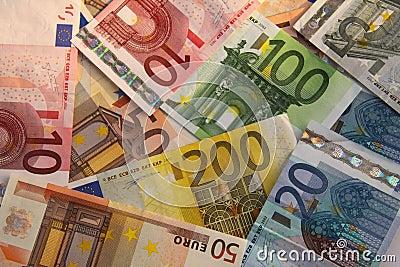 Euros - dinero en circulación europeo