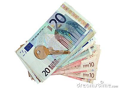 Euros and house key