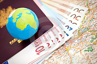 Euros and passport