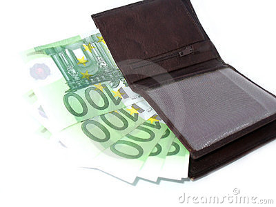 Euros in wallet