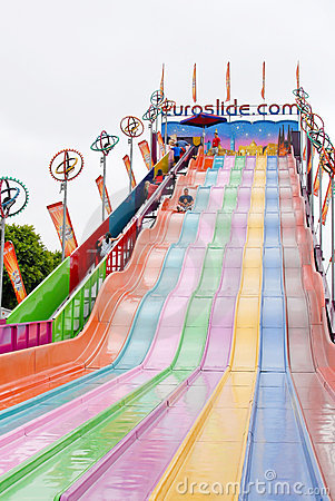 EuroSlide Attraction Editorial Stock Photo