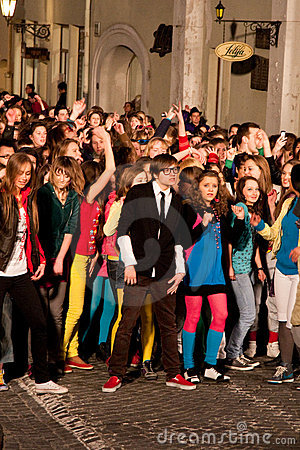 Eurovision flash mob dance moments Editorial Image