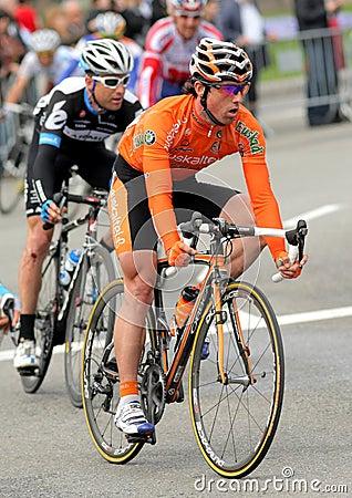Euskaltel Euskadi cyclist Alan Perez Lezaun Editorial Image