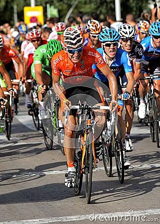 Euskaltel-Euskadi spanish cyclist Igor Anton Editorial Photography