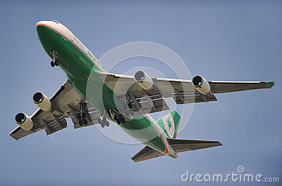 Eva Air Cargo Editorial Stock Image