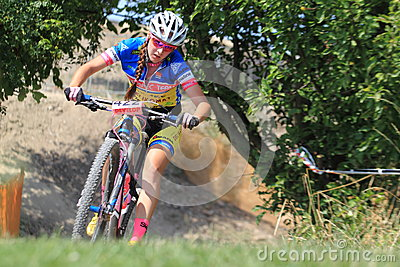 Eva Zemankova - MTB cross country Editorial Photography