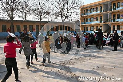 Evacuation exercises Editorial Photo