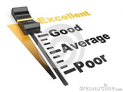 Evaluation rate - excellent - poor.