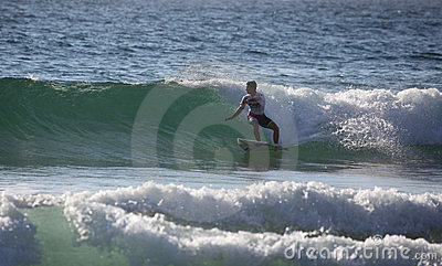 Evan Geiselman Surfing Manly Beach Editorial Stock Photo