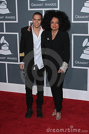 Evan Ross, Diana Ross Editorial Stock Photo