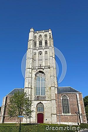 Free Evangelical Grote Kerk St. Catharijnekerk In Brielle Stock Images - 85425864