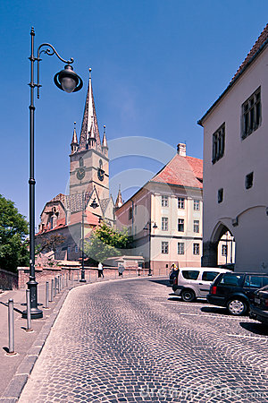 Evanghelical Church in Sibiu Editorial Stock Photo