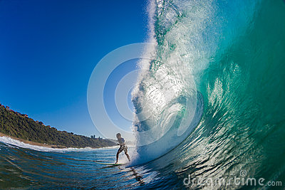 Evasive Action Surf Rider Hollow Wave Editorial Image