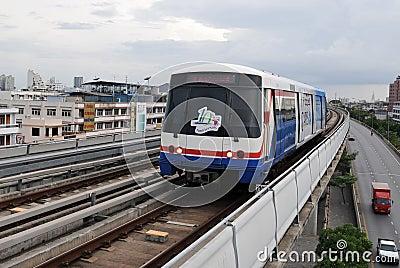 Evelated Train in Bangkok Editorial Stock Photo