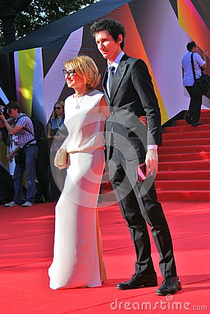 Evelina Khromchenko at Moscow Film Festival Editorial Stock Photo