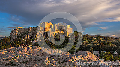 Evening at the Acropolis in Athens
