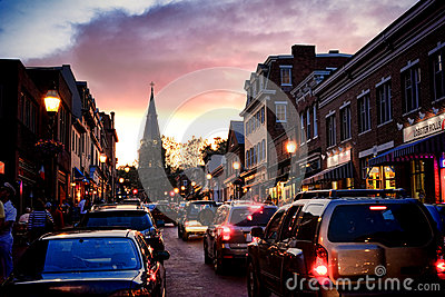 Evening on Main Street in Annapolis Maryland