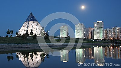 Evening in Astana Kazakhstan