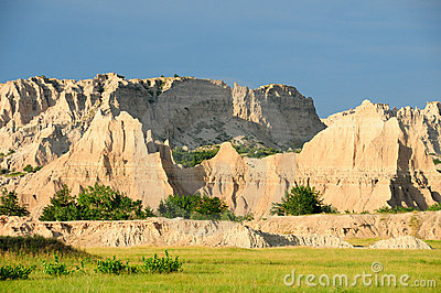 Evening in the badlands