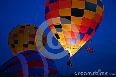 Evening balloon glow Editorial Photography