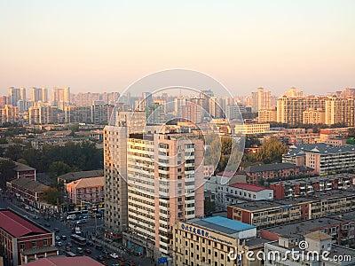 The evening Beijing Editorial Stock Photo