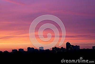 Evening calm sky color