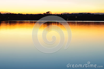 Evening calm water background.