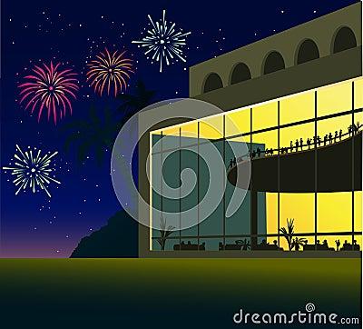 Evening Celebration Background