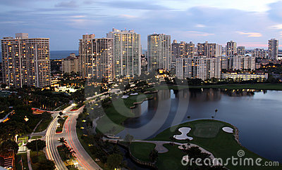 Evening City - Miami Florida