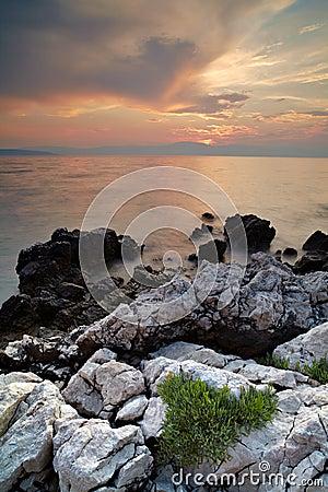 Evening coastline