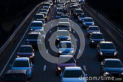 Evening commute traffic