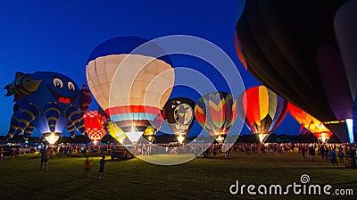 Evening Glow Hot Air Balloon Festival Editorial Photo