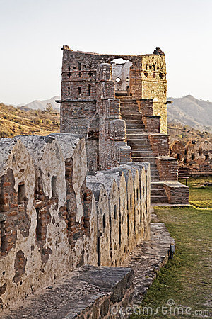 Evening Glow Kumbhalgar Fort tower India
