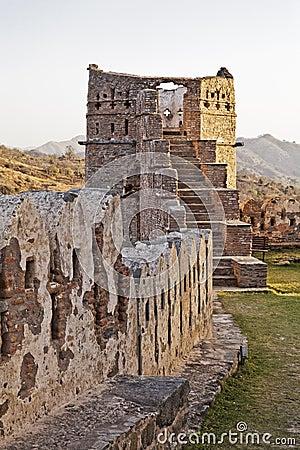 Evening Glow Kumbhalgar Fort tower India